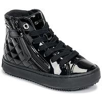 鞋子 女孩 高帮鞋 Geox 健乐士 KALISPERA 黑色