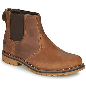 鞋子 男士 短筒靴 Timberland 添柏岚 LARCHMONT II CHELSEA 棕色