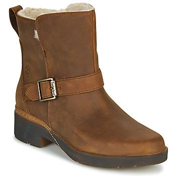 鞋子 女士 短筒靴 Timberland 添柏岚 GRACEYN BIKER WP 棕色