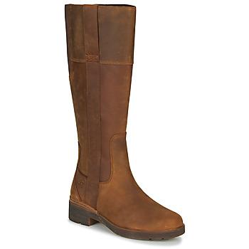 鞋子 女士 都市靴 Timberland 添柏岚 GRACEYNTALLSIDEZIPWP 棕色