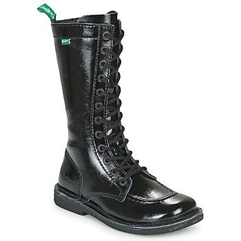 鞋子 女士 都市靴 Kickers MEETKIKNEW 黑色 / Verni