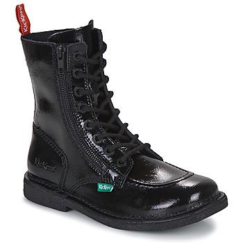 鞋子 女士 短筒靴 Kickers MEETICKZIP 黑色 / 漆皮