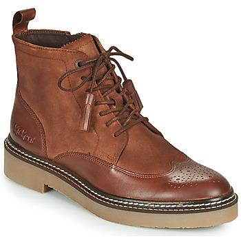 鞋子 女士 短筒靴 Kickers OXANYHIGH 棕色