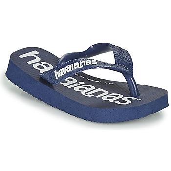 鞋子 男孩 人字拖 Havaianas 哈瓦那 Top Logomania 海蓝色