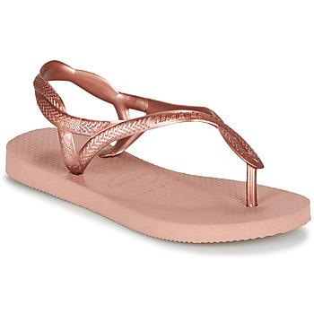 鞋子 女孩 人字拖 Havaianas 哈瓦那 LUNA MINI ME 玫瑰色