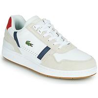 鞋子 男士 球鞋基本款 Lacoste T-CLIP 0120 2 SMA 白色 / 海蓝色 / 红色