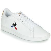 鞋子 球鞋基本款 Le Coq Sportif 乐卡克 COURTSET 白色 / 棕色