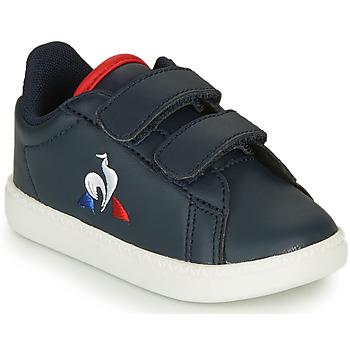 鞋子 儿童 球鞋基本款 Le Coq Sportif 乐卡克 COURTSET INF 海蓝色