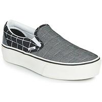 鞋子 女士 平底鞋 Vans 范斯 CLASSIC SLIP-ON PLATFORM 灰色