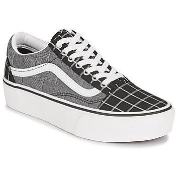 鞋子 女士 球鞋基本款 Vans 范斯 OLD SKOOL PLATFORM 灰色