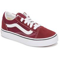 鞋子 儿童 球鞋基本款 Vans 范斯 Uy Old Skool 波尔多红