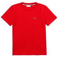 衣服 男孩 短袖体恤 Lacoste TJ1442-F8M-J 红色