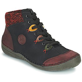 鞋子 女士 短筒靴 Rieker 瑞克尔 52513-36 黑色 / 波尔多红
