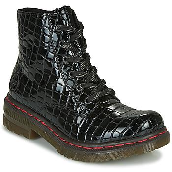 鞋子 女士 短筒靴 Rieker 瑞克尔 76246-00 黑色