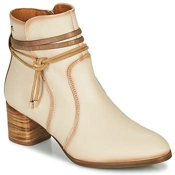 鞋子 女士 短靴 Pikolinos 派高雁 CALAFAT W1Z 米色 / 棕色