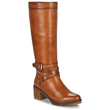 鞋子 女士 都市靴 Pikolinos 派高雁 LLANES W7H 棕色