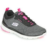 鞋子 女士 训练鞋 Skechers 斯凯奇 FLEX APPEAL 3.0 灰色 / 黑色 / 玫瑰色