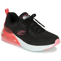 鞋子 女士 球鞋基本款 Skechers 斯凯奇 SKECH-AIR 黑色 / 玫瑰色