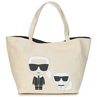 包 女士 购物袋 KARL LAGERFELD K/IKONIK KARL & CHOUPETTE TOTE 黑色