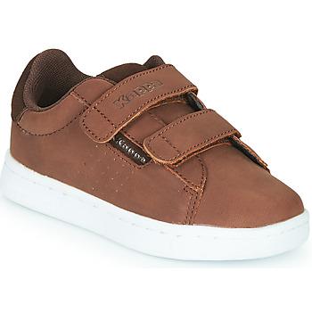 鞋子 男孩 球鞋基本款 Kappa 卡帕 TCHOURI 2V 棕色