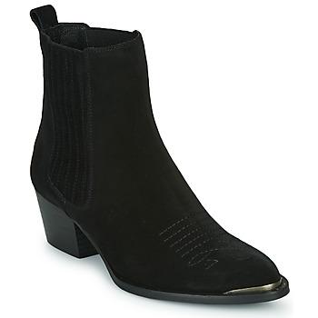 鞋子 女士 短靴 Ikks TIAG SUEDE 黑色