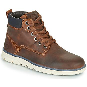 鞋子 男孩 短筒靴 Jack & Jones 杰克琼斯 JR TUBAR LEATHER 棕色