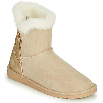 鞋子 女士 短筒靴 Only BREEZE 1 ZIP BOOT 米色