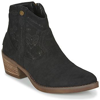 鞋子 女士 短靴 Refresh 72472 黑色