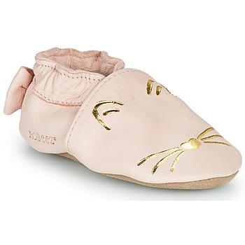 鞋子 女孩 拖鞋 Robeez GOLDY CAT 玫瑰色 / 金色