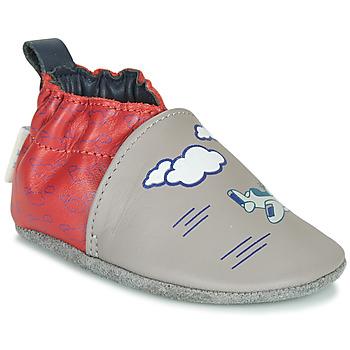 鞋子 男孩 拖鞋 Robeez HAPPY WOLF 灰色 / 红色