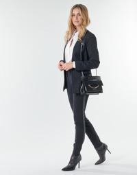 衣服 女士 多口袋裤子 KARL LAGERFELD PUNTO PANTS W/ LOGO TAPE 海蓝色 / 黑色