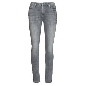 衣服 女士 紧身牛仔裤 KARL LAGERFELD SKINNY DENIMS W/ CHAIN 灰色