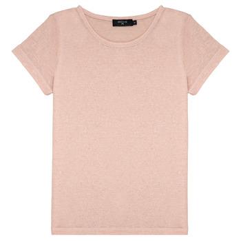 衣服 女孩 短袖体恤 Deeluxe GLITTER 玫瑰色