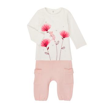 衣服 女孩 女士套装 Catimini CR36001-11 白色 / 玫瑰色