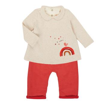 衣服 女孩 女士套装 Catimini CR36031-60 玫瑰色
