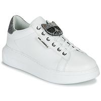 鞋子 女士 球鞋基本款 KARL LAGERFELD KAPRI IKONIC TWIN LO LACE 白色 / Lthr / 银灰色