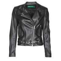 衣服 女士 皮夹克/ 人造皮革夹克 Benetton 2ALB53673 黑色