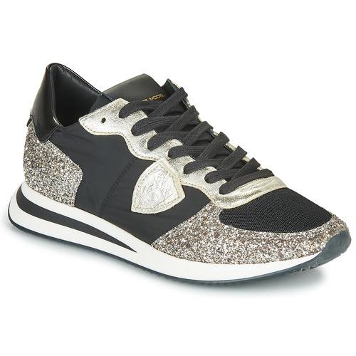 鞋子 女士 球鞋基本款 PHILIPPE MODEL TROPEZ X BASIC 黑色 / 银色