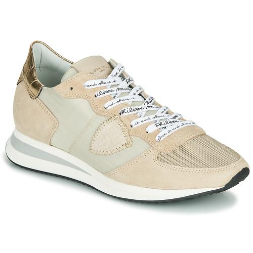 鞋子 女士 球鞋基本款 PHILIPPE MODEL TROPEZ X MONDIAL CROCO 米色