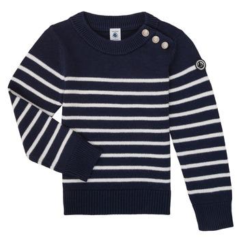 衣服 儿童 羊毛衫 Petit Bateau 小帆船 LOX 海蓝色 / 白色