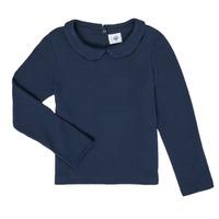 衣服 女孩 长袖T恤 Petit Bateau 小帆船 LOVING 海蓝色