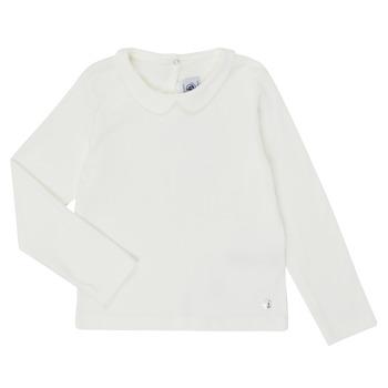 衣服 女孩 长袖T恤 Petit Bateau 小帆船 LOVING 白色