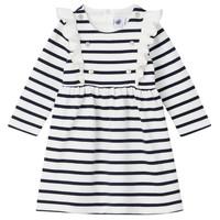 衣服 女孩 短裙 Petit Bateau 小帆船 LEVRIER 白色 / 海蓝色