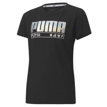 衣服 女孩 短袖体恤 Puma 彪马 ALPHA TEE 165 黑色