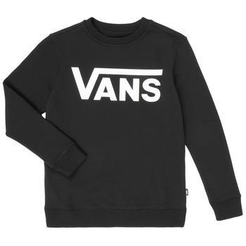 衣服 男孩 卫衣 Vans 范斯 VANS CLASSIC CREW 黑色
