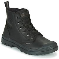 鞋子 短筒靴 Palladium 帕拉丁 PAMPA ZIP LTH ESS 黑色