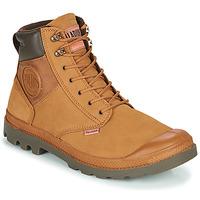 鞋子 男士 短筒靴 Palladium 帕拉丁 PAMPA SHIELD WP+ LUX 棕色