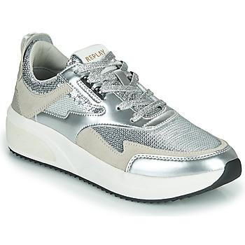 鞋子 女士 球鞋基本款 Replay FLOW CREATION 银色