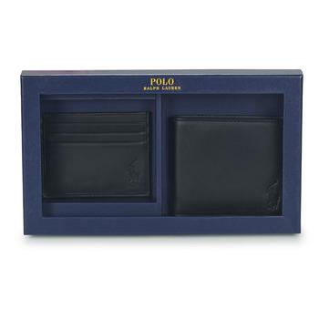 包 男士 钱包 Polo Ralph Lauren Billfold & CardCase Gift Set 黑色