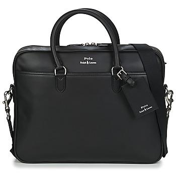 包 男士 公文包 Polo Ralph Lauren COMMUTER-BUSINESS CASE-SMOOTH LEATHER 黑色